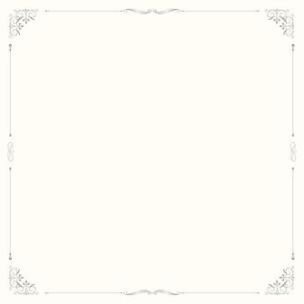 Vintage ornamental frame on beige background