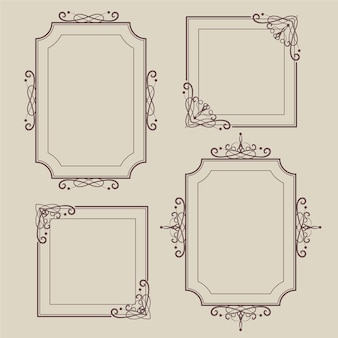 Vintage ornamental frame collection concept