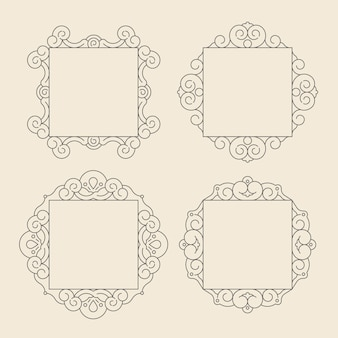 Vintage ornamental frame collection