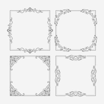 Vintage ornamental frame pack
