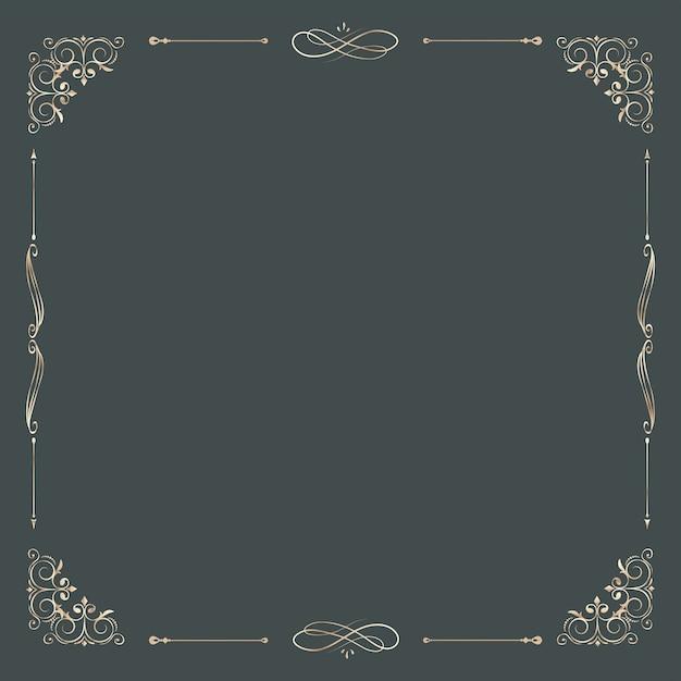 Vintage ornamental framed background