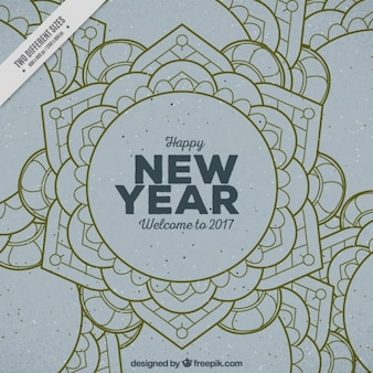 Vintage ornamental happy new year background
