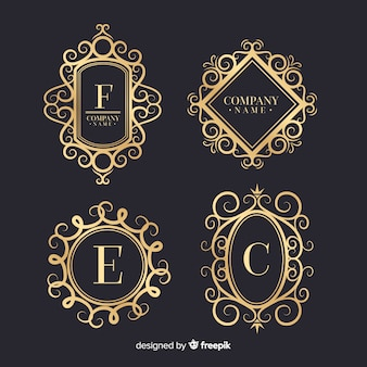 Vintage ornamental logos collection