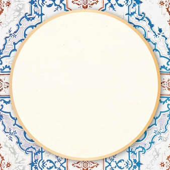 Cornice rotonda ornamentale vintage
