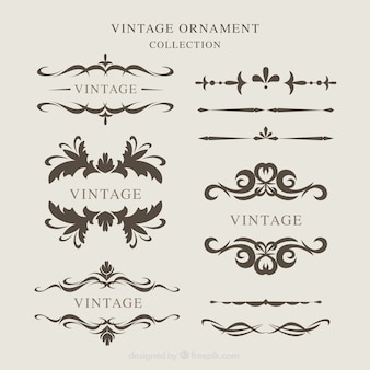 Vintage ornaments collection