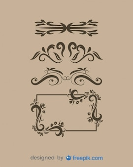 Ornamenti d'epoca e vector frame set