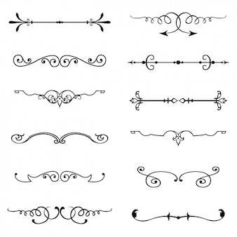 Swirl vectors photos and psd files free download vintage ornaments set stopboris Image collections