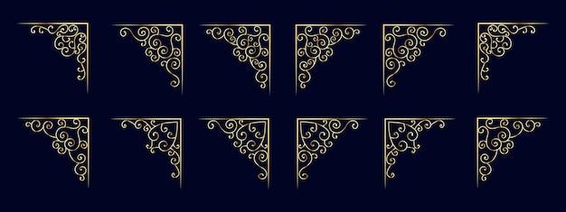 ヴィンテージの装飾品が渦巻くとスクロール装飾デザイン