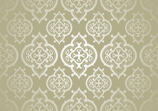Vintage ornate golden pattern background
