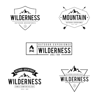 Vintage outdoor mountain labels and badges