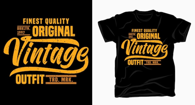 Vintage outfit typography design for t shirt