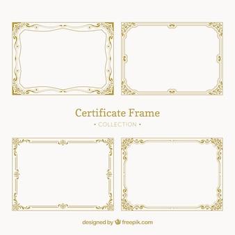 Vintage pack of certificate frames