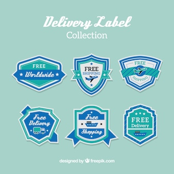 Vintage pack of classic delivery labels