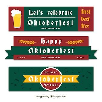 Vintage pack of oktoberfest banners