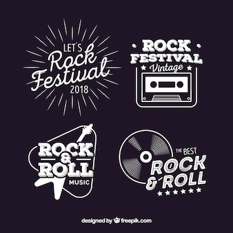 Vintage pack of rock logos