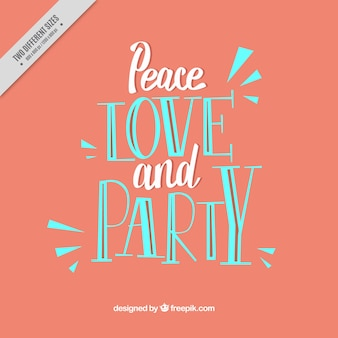 Vintage party phrase background