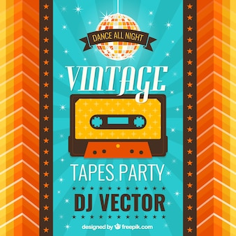 Vintage party poster Free Vector