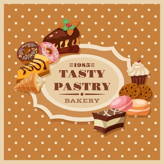 Vintage pastry frame