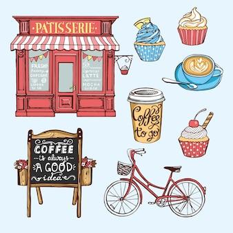 Vintage pastry shop set