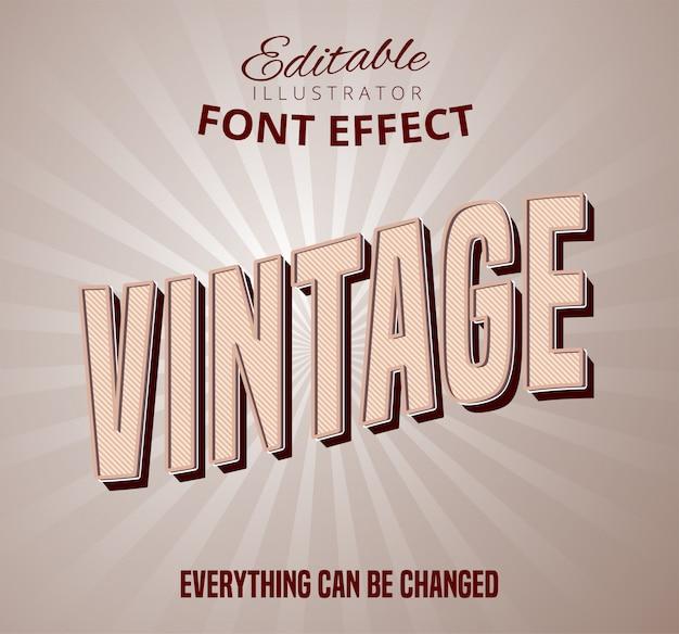 Vintage pattern font effect
