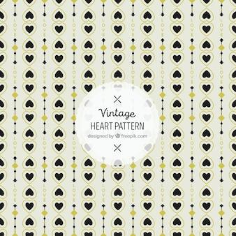 Vintage pattern of hearts