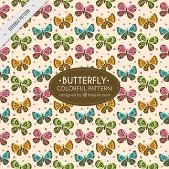 Vintage pattern of butterflies