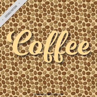 커피 콩의 빈티지 패턴