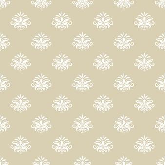 Fondo senza cuciture del modello dell'annata. design tessile, arredamento retrò decorativo, tessuto sullo sfondo, illustrazione vettoriale