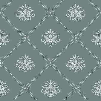 Vintage pattern seamless baroque style in gray color.