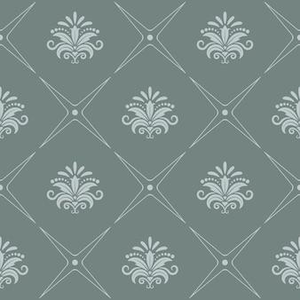 회색 색상의 빈티지 패턴 원활한 바로크 스타일.