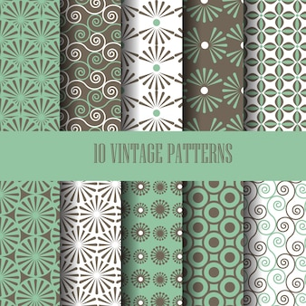 Vintage pattern set