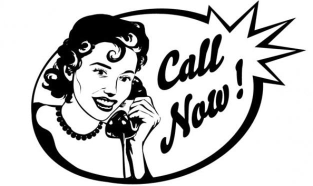 Persone epoca parlando al telefono
