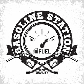 ヴィンテージガソリンスタンドのロゴデザイン