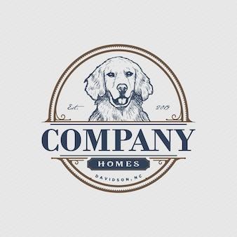 Винтажные домашние животные логотип inspiratio