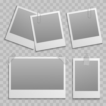 Vintage photo frame different size template
