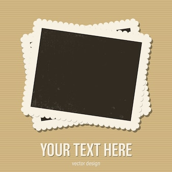 Vintage photo frame illustration isolated on background