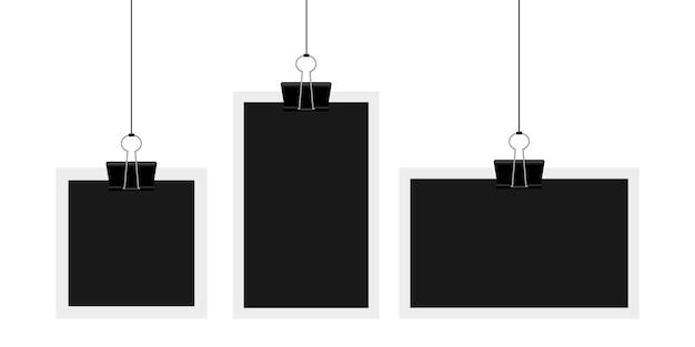 Винтажная фоторамка иллюстрация на фоне