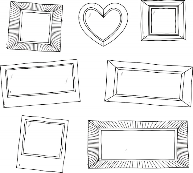 Vintage photo frame.vector set of vintage photo frames