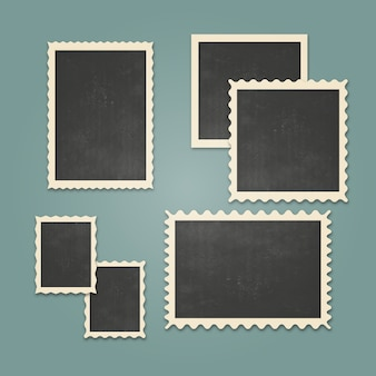 Vintage photo frames set