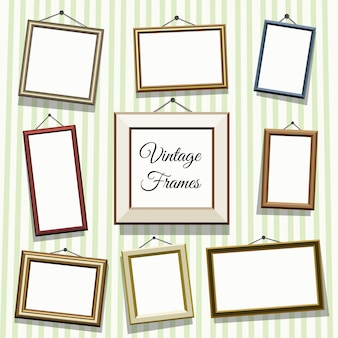 Vintage photo or picture frames set