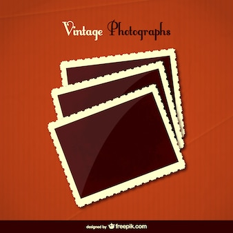 Vintage photographs vector