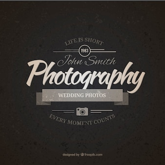 Vintage photography badge