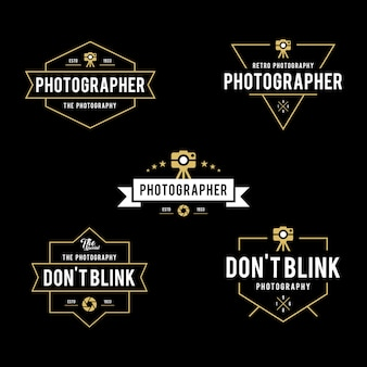 Vintage photography badges labels templates