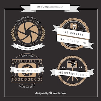 Vintage photography badges