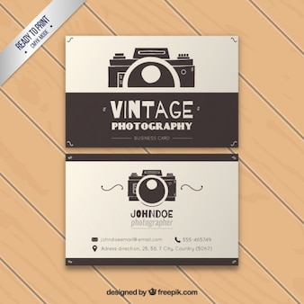 Photography business card vectors photos and psd files free download vintage photography business card reheart Image collections