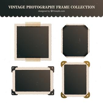 Старинные фотографии рамки в плоском дизайне