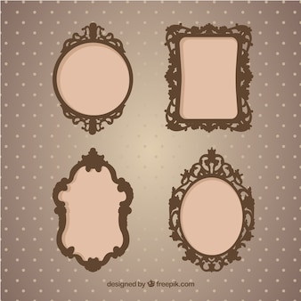 Vintage photography frames in ornamental style