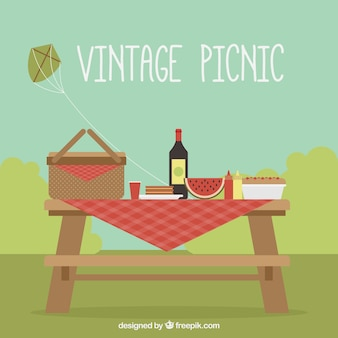 Vintage picnic background