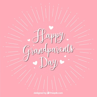 Vintage pink background of happy grandparents day