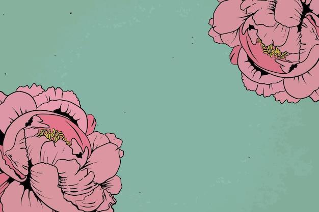 Vintage pink rose frame design